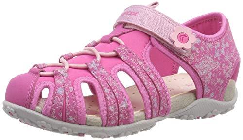 Geox Mädchen JR Roxanne B Geschlossene Sandalen, Pink (Fuchsia C8002), 34 EU