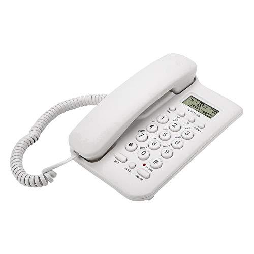 Mavis Laven Telefono con Filo, Telefono Fisso con Filo Fisso Telefono Fisso Fisso con ID chiamante No Alimentazione CA Richiesta per L Ufficio alberghiero di casa, montabile a Parete(Bianca)