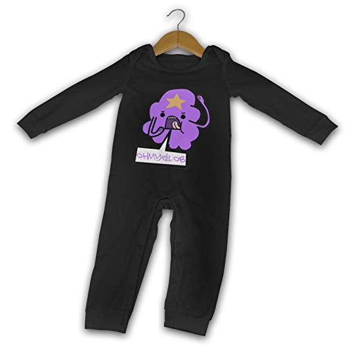 Lumpy Space Princess oh My glob Baby Onesies Outfits Baby Playsuit Unisex Long-Sleeve Bodysuit Cotton Jumpsuit Black