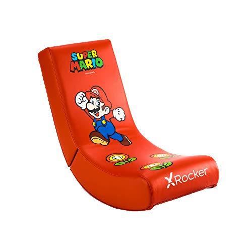 X Rocker Nintendo Super Mario Floor Rocker | Gaming Sessel für Kinder | Super Mario Design
