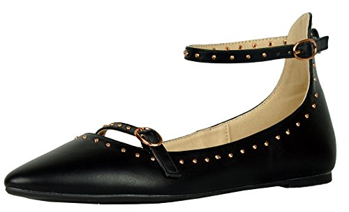 Top 10 best selling list for studded flat shoes with strap