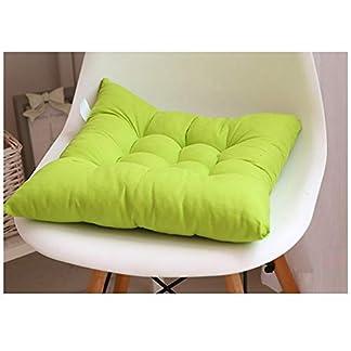 GELing Cojines para Silla Espesar Transpirable Cojín Cuadrado para Sala De Estar Dormitorio Oficina Verde 40X40CM
