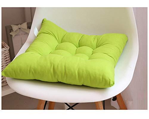 GELing Gepolstertes Sitzkissen Stuhlauflage Sitzpolster Stuhl Für Haus Gartenmöbel Deko Grün 45X45CM