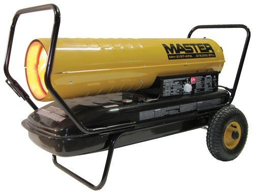 Master MH-215T-KFA Kerosene Forced Air Heater with Thermostat, 215,000...
