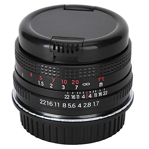 Oumij1 Camera Lens - 50mm F1.7 is Full Width Large Aperture Fixed Focusing Lens for M42 Mount SLR Camera - Multilayer Antireflection Film Lens