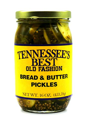 Tennessee's Best Bread & Butter Pickles | Handcrafted with Fresh Cucumbers, Sugar and Vinegar | All Natural, Small Batch-Made - 16 oz Jar (454 g)