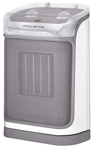 Rowenta SO9280 Excel Aqua Safe Keramik-Heizlüfter, Zwei Leistungsstufen, Elektro-Heizung, Badezimmer, energiesparend, Innenraum, für 25 m² Räume