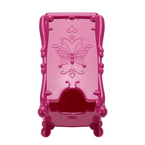 Caja de almacenamiento organizadora, almohadilla de algodón de maquillaje cosmético fácil de limpiar forma única práctica para salón de manicuras(red)