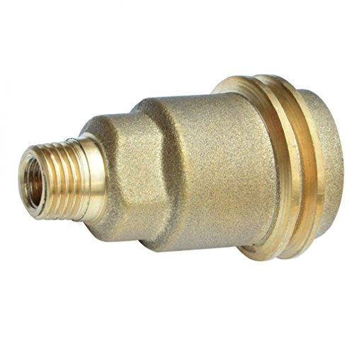 onlyfire 5042 QCC1 Acme Nut Propane Gas Fitting Adapter with 1/4 Inch Male Pipe Thread, Brass