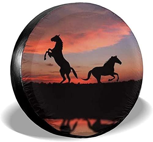 Cubierta de neumático de repuesto Animal Horse,poliéster,universal,de 16 pulgadas,cubierta de neumático de rueda de repuesto para remolque,caravana,SUV,rueda de camión,camión,autocaravana,accesorios