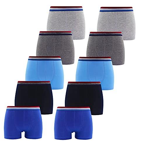 5-10 Unterhosen Jungen Boxershorts Jungs Boxershort Kinder Unterwäschenset Baumwoll Boxer Shorts Retro Shorts (Farbmix - 5 Stück, Gr. 158/164)