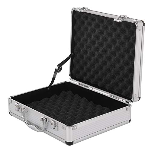 KingSaid Aluminium Case Lockable Flight Pistol Tool Secure Box 2 Combination Locks Portable Carry Storage