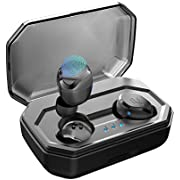 2019 Antimi Bluetooth Headphones Wireless Noise Cancelling In-Ear Earphones Wireless Bluetooth 5.0 Headset with 3000 mAh Battery Sport IPX7 Waterproof Microphone for iPhone Android Samsung