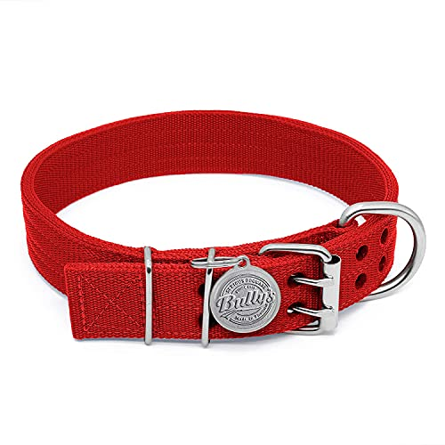 Pit Bull Collar, Dog Collar for Large Dogs, Heavy...