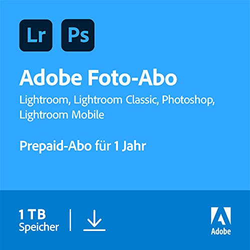 Adobe Creative Cloud Foto-Abo mit 1TB: Photoshop und Lightroom | 1 Jahreslizenz | PC/Mac Online Code & Download