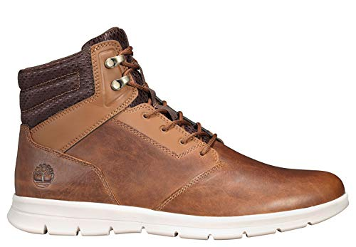 Timberland Men's Graydon Leather Sneaker Boots Size 12 Wheat Full Grain