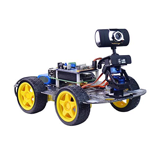 DS Wireless WiFi/Bluetooth Robot Car Kit for Raspberry pi 4B, Remote Control Hd Camera 16G SD Card Robotics Smart Educational Toy Controlled by iOS Android App PC Software with Source Code