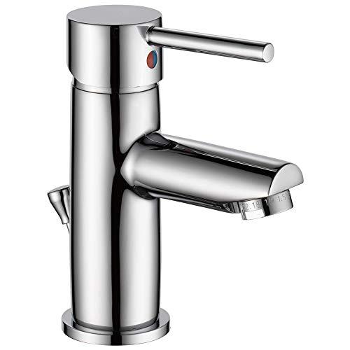 Delta Faucet Modern Single Hole Bathroom Faucet, Single Handle...