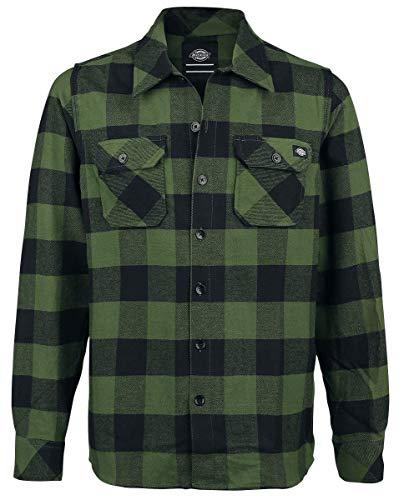 Dickies Sacramento, Camicia Uomo, Verde (Pine Green), Medium