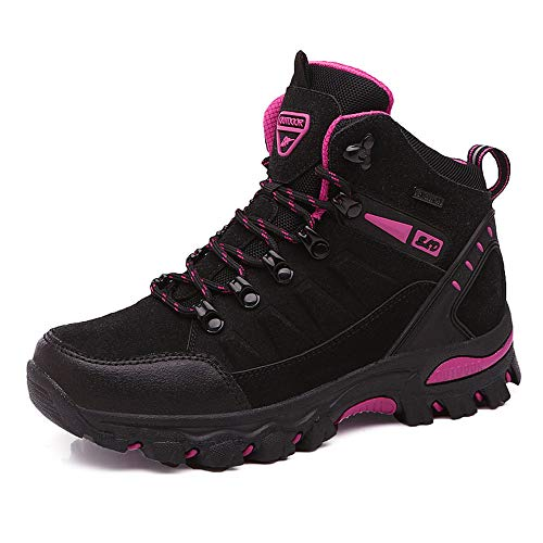 UUFLYME Autumn and Winter Hiking Boots for Women and Non-Slip Climbing Sneakers (6.5 M US, Black)