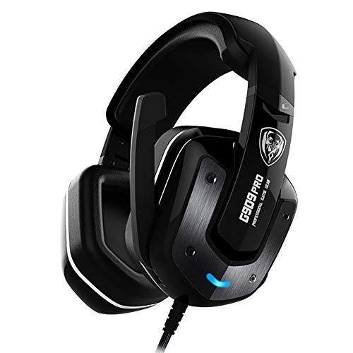 QNSQ Casque de Jeu USB Vibrant, Montage sur la tête, Son Surround 4D à 7.1 canaux, qualité Audio HiFi, réduction Parfaite du Bruit Actif du Microphone