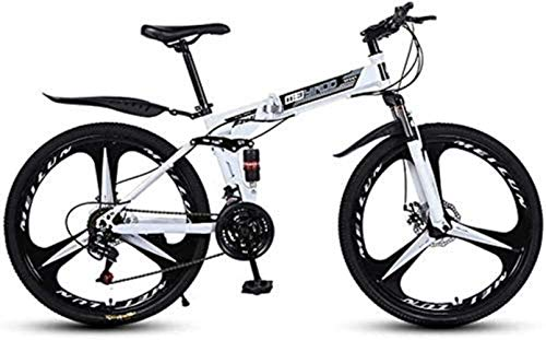 Dirty hamper Folding Variable Speed 26 Inch Mountain Bike, Lightweight High-Carbon Steel Frame Bikes Dual Disc Brake Bicycle Foldable Bicycle