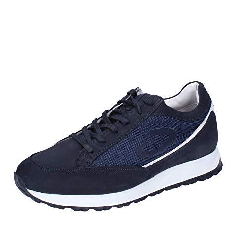 GUARDIANI Sneaker Uomo Pelle Nubuck Blu 44 EU