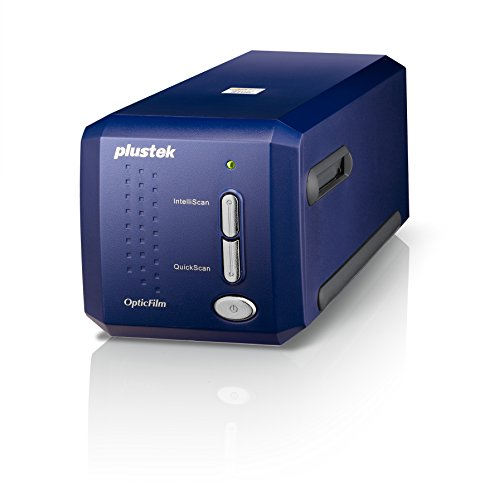 Plustek OpticFilm 8100 - Escáner (36,8 x 25,4 mm, 7200 x 7200 dpi, USB 2.0, Film/Slide, Azul, CCD)