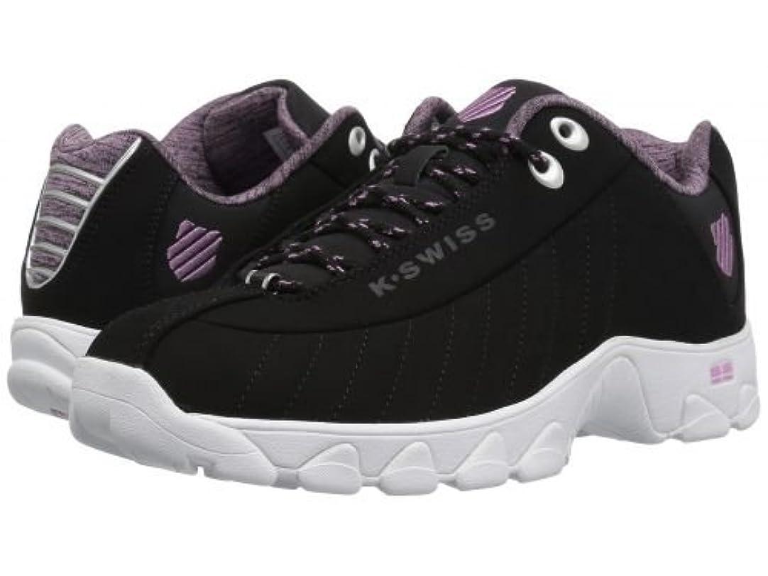 バレーボールパールモルヒネK-Swiss(ケースイス) レディース 女性用 シューズ 靴 スニーカー 運動靴 ST329 CMF - Black/Smoky Grape/White [並行輸入品]