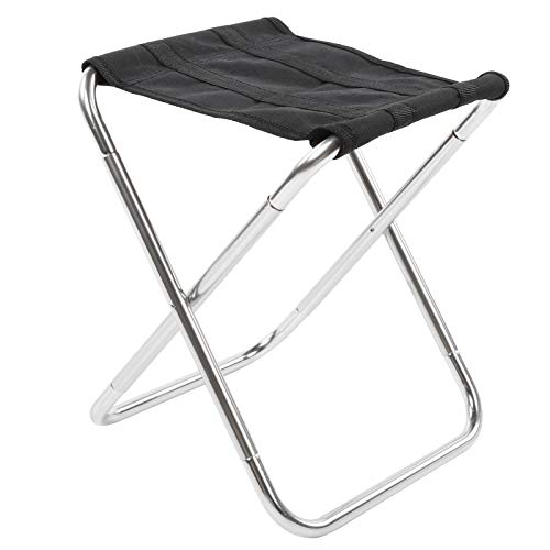 Ruiqas Taburete plegable de aleación de aluminio de aviación al aire libre portátil camping mini taburete plegable para pesca camping picnic