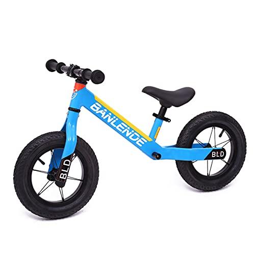 MIAOYO 12 Pulgadas Bicicleta Infantil, Bebé Dos-Ruedas Equilibrar Bicicletas Deslizantes Sin Pedales, Escuela Primaria Niños's Scooter con Equipo De Protección,F