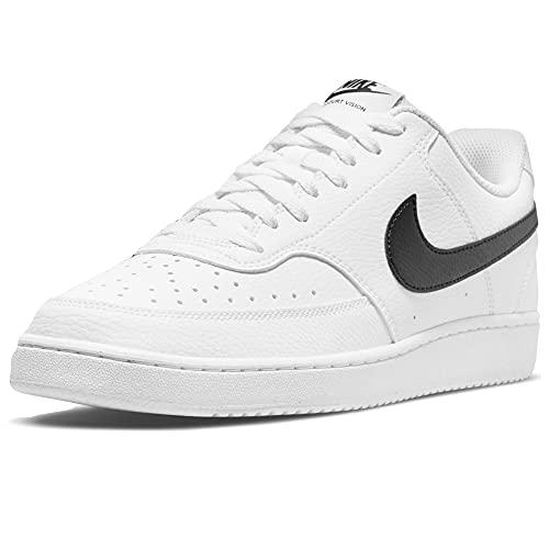 Nike Court Vision Low Better, Zapatillas de bsquetbol Hombre, Blanco/Negro, 42 EU