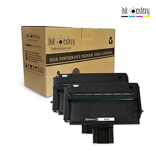 Ink Centery - Pack de 2 Tóner compatible con Ricoh SP200 SP203 SP211 SP213.Color negro,capacidad de impresión 2600 páginas