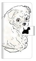 ラクテン ビッグ エス スマホケース 手帳型 カバー 【ステッチタイプ】 YD950 ウエストハイランドホワイトテリア01 横開き 品