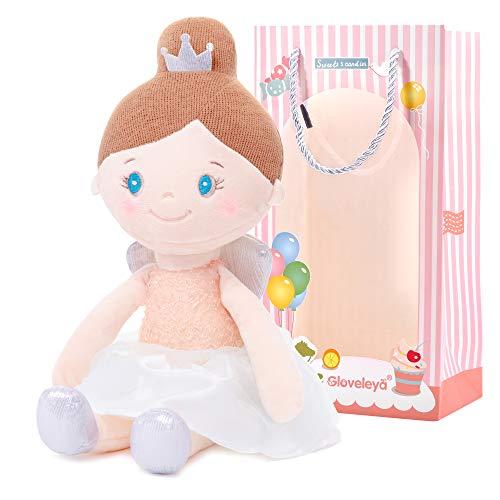 Gloveleya Plüschtier Stoffpuppe Stofftier Babymädchen Geschenk weich und sicher zu Spielen Babypuppenserie - Engel rosa