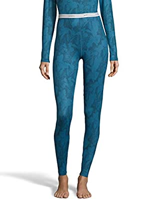 Hanes Womens 4-Way Stretch Thermal Pant, S, Teal Combo by Hanes