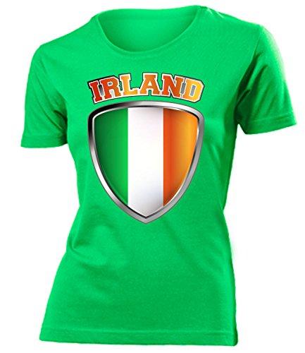 Irland Ireland Fanshirt Fussball Fußball Trikot Look Jersey Damen Frauen t Shirt Tshirt t-Shirt Fan Fanartikel Outfit Bekleidung Oberteil Hemd Artikel