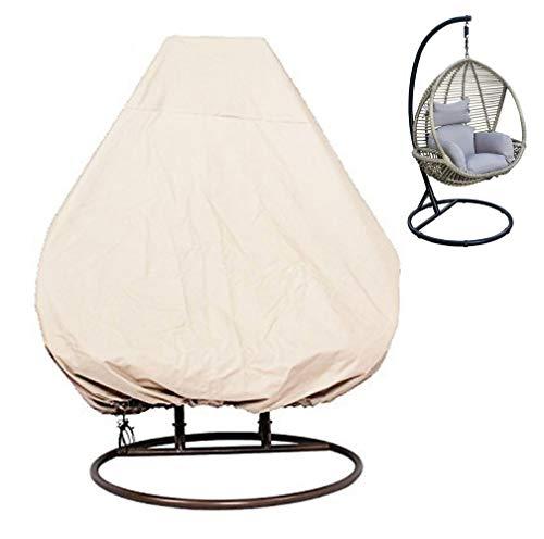 KIKIGOAL Outdoor Patio Sedia sospesa di Vimini Egg Swing Chair Covers Resistente Impermeabile