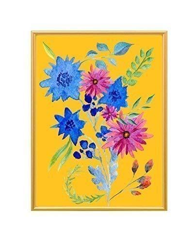 Kunstdruck - Aquarellillustration - Blumenstrauß - A4 Größe - gerahmt