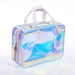 top handle pouch with star glitter
