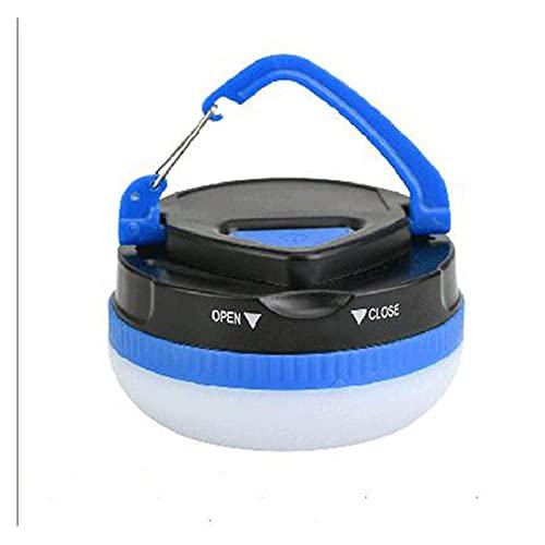 KOLOSM Linterna Camping Linterna Camping Camping Luz de campaña al Aire Libre Luz con 5 Modos Hook Restractable para mochileros Senderismo Senderismo Lámpara de Emergencia (Wattage : Blue)