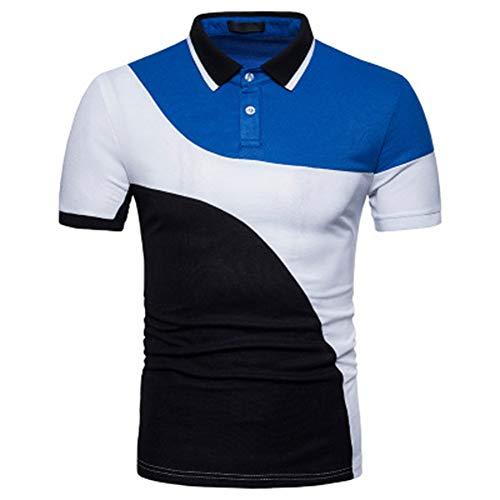 Mr.BaoLong&Miss.GO Neue Trendige Polo-Hemden Für Herren Herren Kurzarmhemden In Europäischer Größe, Farblich Passend Für Kurzarm-t-Shirts Herren-Polo-Hemden Für Herren