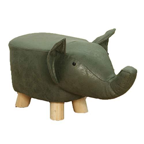 Taburetes Sofá fecal en casa Animales, Simple y Creativo, único heces, Sala, pequeño Banco, Lazy Sillas y sofás (Color : Green, Size : Elephant)
