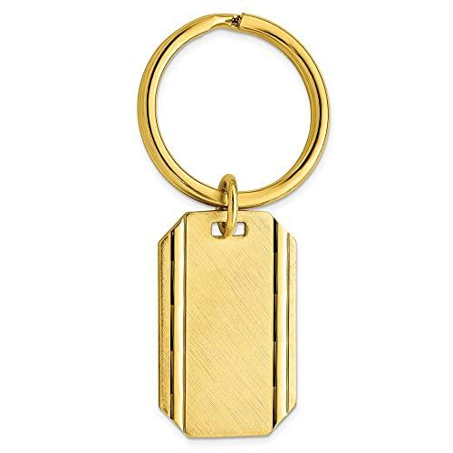 Diamond2Deal Kelly Waters - Llavero de satén florentino Chapado en Oro
