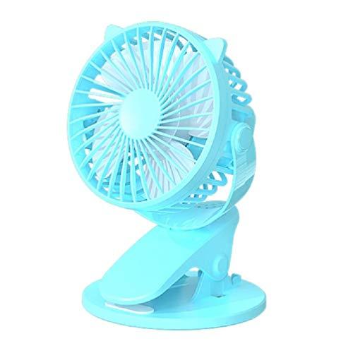 Nueva venta caliente USB recargable clip de escritorio/mesa ventilador mini portátil abrazadera ventilador giratorio 360 grados con ventilador de aire refrigerador ventilador