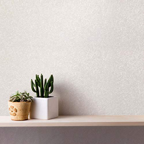 selbstklebend Tapete PVC Möbelfolie wasserfest Klebefolie Seidenoptik Dekorfolie DIY Aufkleber renovieren Möbelsticker für Schränke Möbel Hintergrundwand (Weiß)