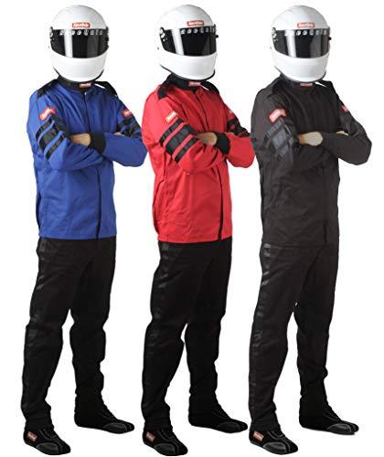 RaceQuip Racing Driver Fire Suit Jacket Single Layer SFI 3.2A/ 1 Black Large 111005