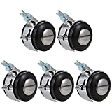Angoily 5pcs Office Chair Caster Wheels Professional Heavy Duty Mute Computer Gaming Desk Caster Replacement for Hardwood Tile Carpet Protector Furniture Accessories