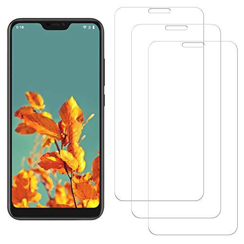 NASFUEY[3 Piezas Cristal Templado para Xiaomi Mi A2 Lite, Protector de Pantalla para Xiaomi Mi A2 Lite, 9H Dureza, Alta Definicion, Anti-rasguños, Sin Burbujas, Protector Pantalla Xiaomi Mi A2 Lite