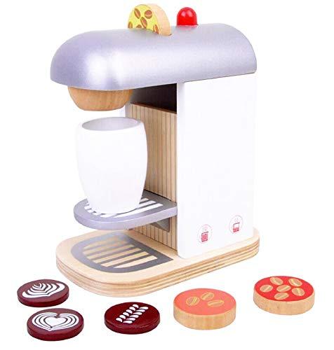 Kaffeemaschine aus Holz für Spielküche Deluxe Espressomaschine